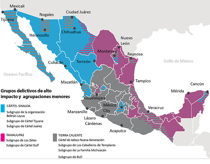The recomposition of the drug trade in Mexico, Cartel fiefdoms 2021 - Mexico Daily Post